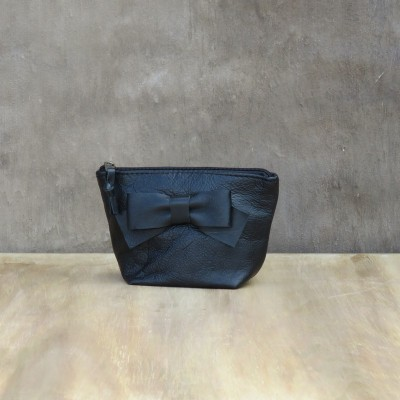 Makeup Bow Bag – Black