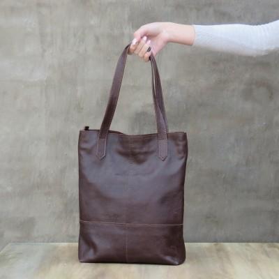 Quarter Tote - Dark Brown